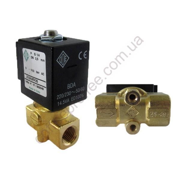 Cоленоїдний клапан ODE 1/4 1/4 220/230V 50/60HZ двохходовий