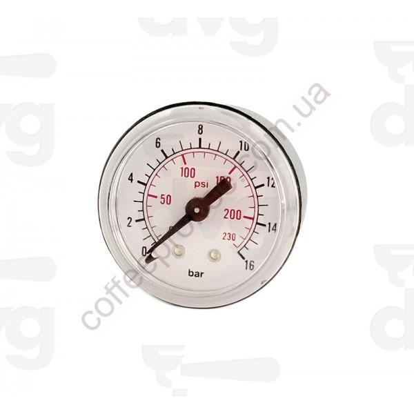 """Манометр для перевірки тиску системи, D.41MM, 0-16bar, 1/8""""M"""