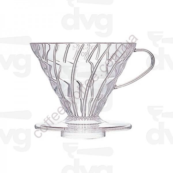 Товар на сайте Coffee Proffee - Пуровер HARIO V60 02 (400мл.) Полипропилен прзрачный VD-02T