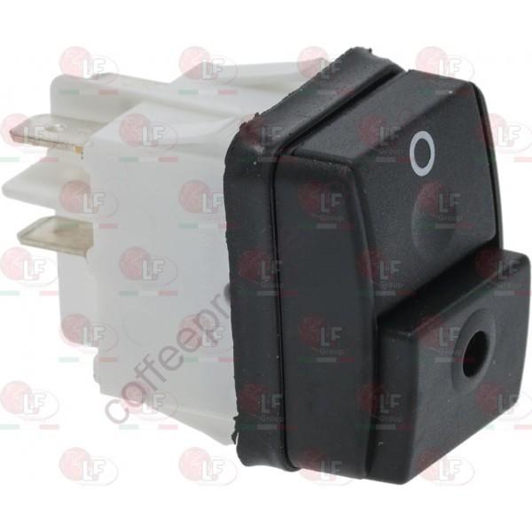 Перемикач чорний 2-полюсний, 16A 250V