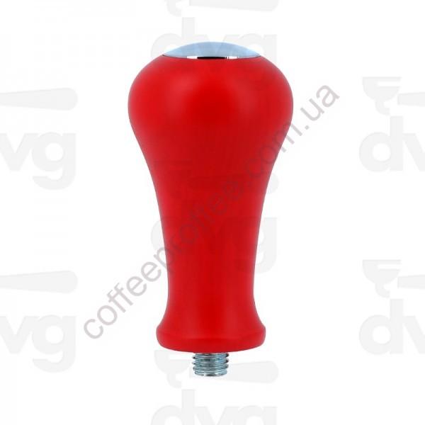 Ручка темпера, червона з хромованою вставкою, М10