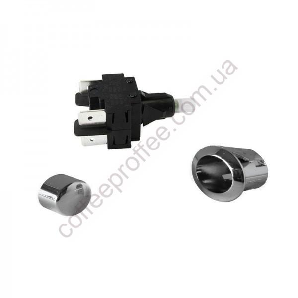 Кнопка вимикача комплект 3в1 ON-OFF з хромом BFC-ROYAL/BRASILIA