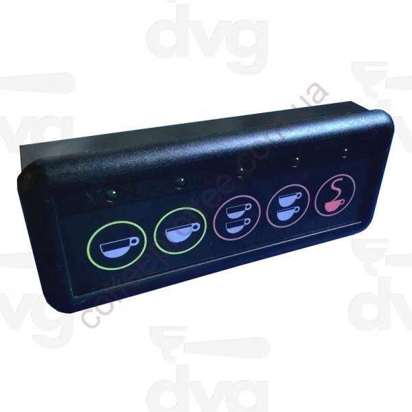 Панель кнопочна, 5 кнопок, LED підсвічування,  SANREMO