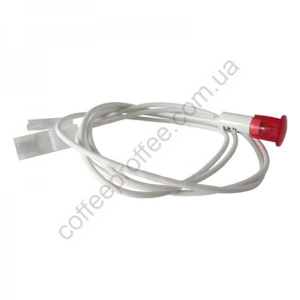 Світловий індикатор червоний 230V з кабелем і фастоном LA SAN MARCO