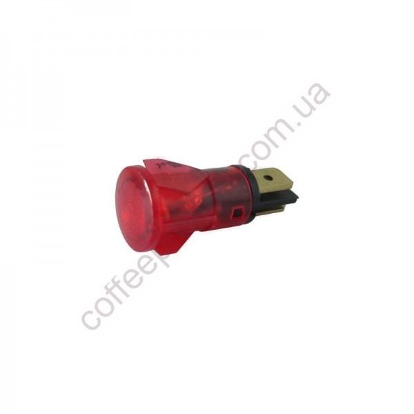 Світловий індикатор червоний 250V D.14MM D.11MM BEZZERA/ELEKTRA/FAEMA/GAGGIA-SAECO/SV SAB ITALIA