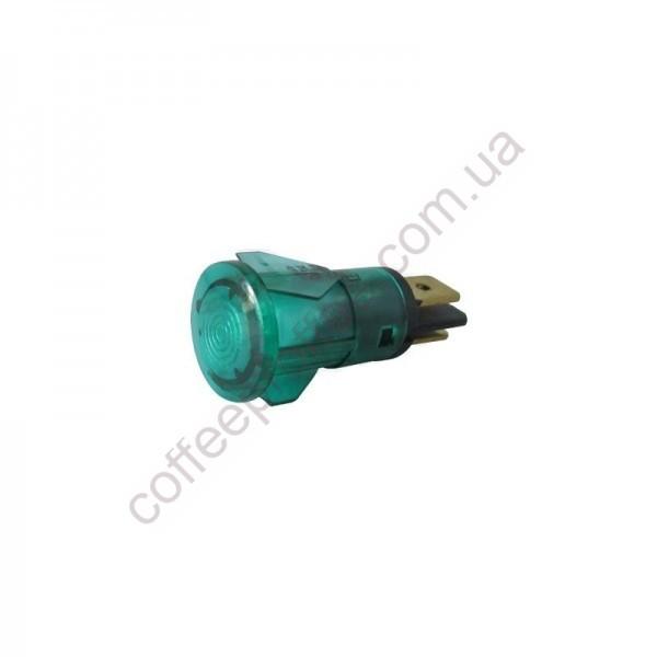 Товар на сайті Coffee Proffee - Світловий індикатор зелений 250V D.14MM D.11MM ELEKTRA/FAEMA/SV SAB ITALIA
