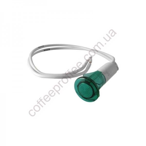 Товар на сайті Coffee Proffee - Світловий індикатор  зелений 240V D.13,5MM D.10MM L.200ММ SV SAB ITALIA