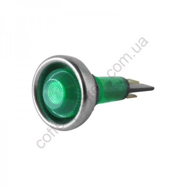 Світловий індикатор зелений 220V D.20MM M10 L.56MM ECM-ROCKET/FAEMA