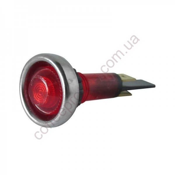 Світловий індикатор червоний 220V D.20MM M10 L.56MM FAEMA