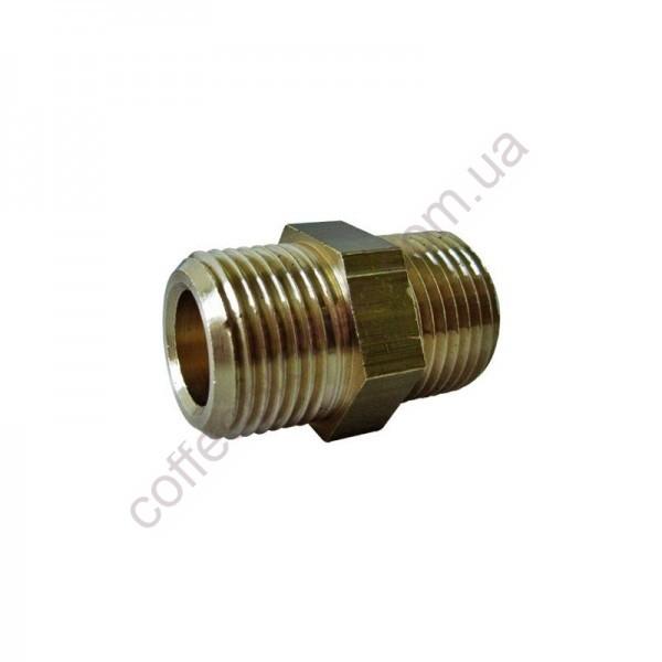 Ніпель MM3/8x3/8 CW510L (циліндрична різьба газу)