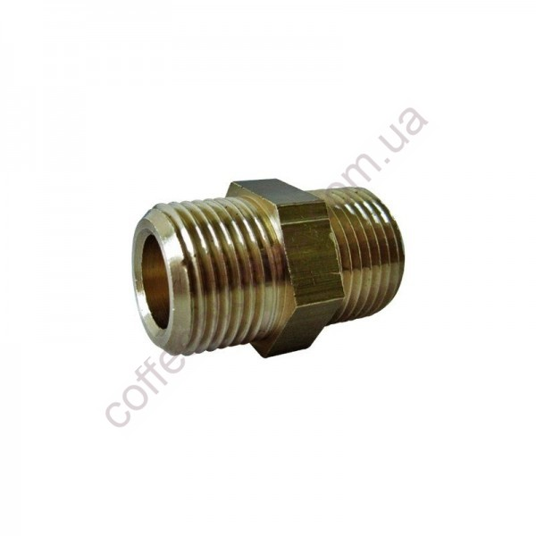 Ниппель MM3/8x3/8 CW510L (цилиндрическая резьба газа)
