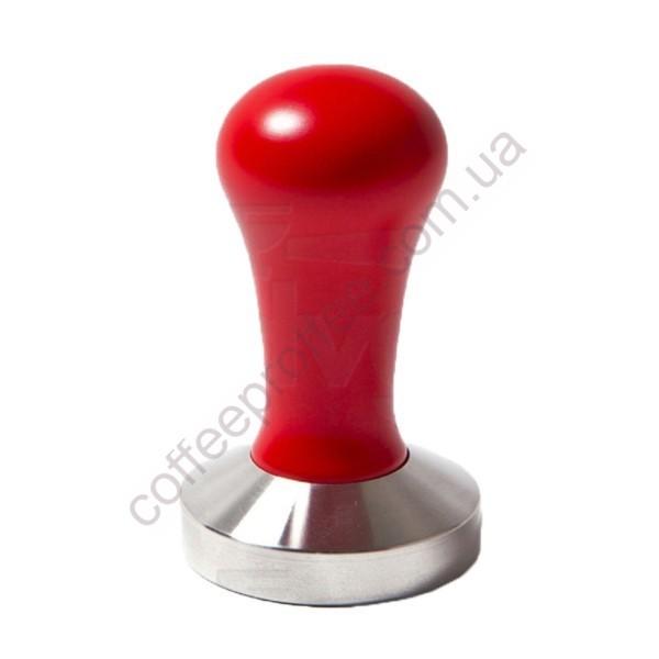 Темпер з червоною ручкою D.57mm (плоске дно)