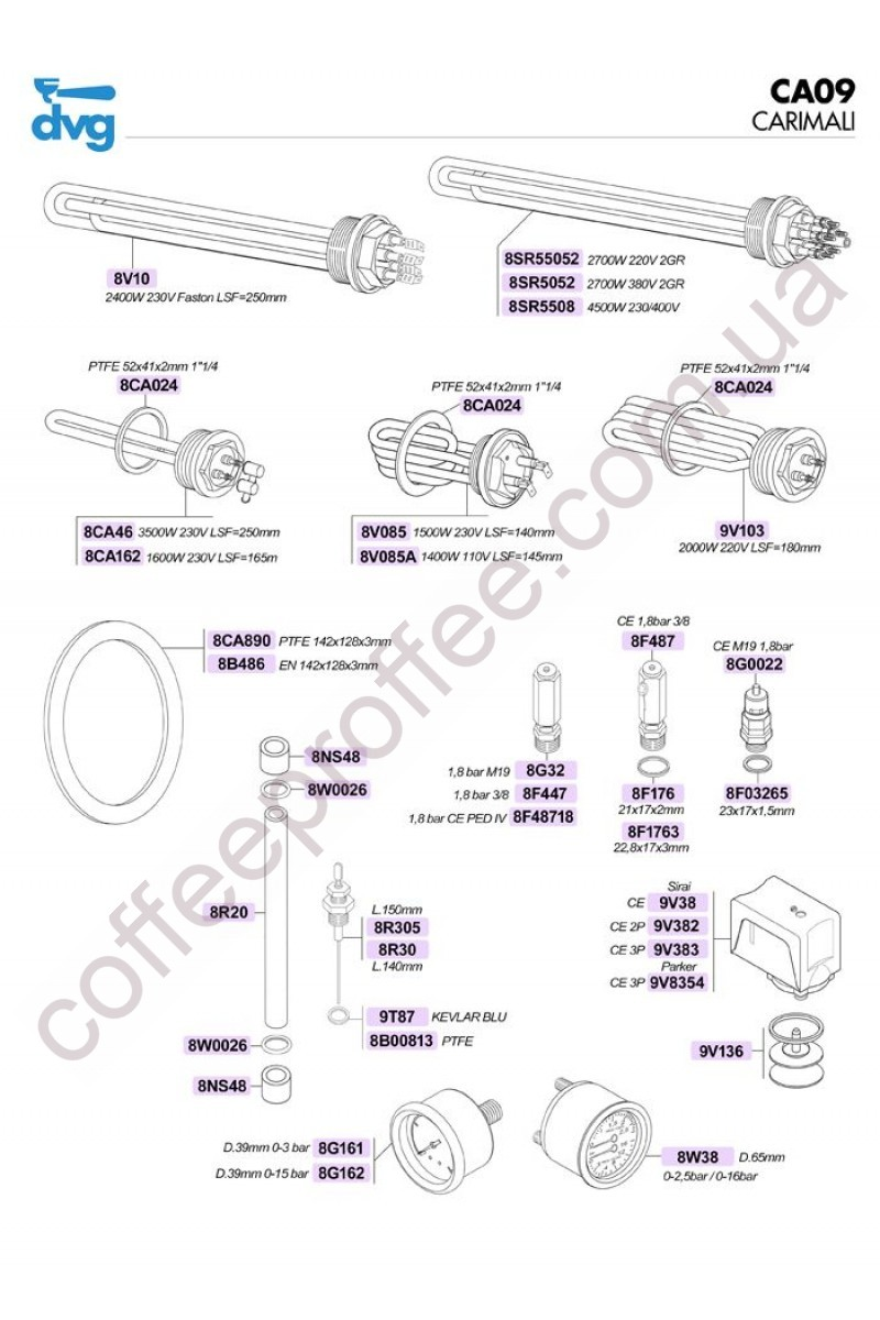 CARIMALI - BOILER AND HEATING ELEMENTS