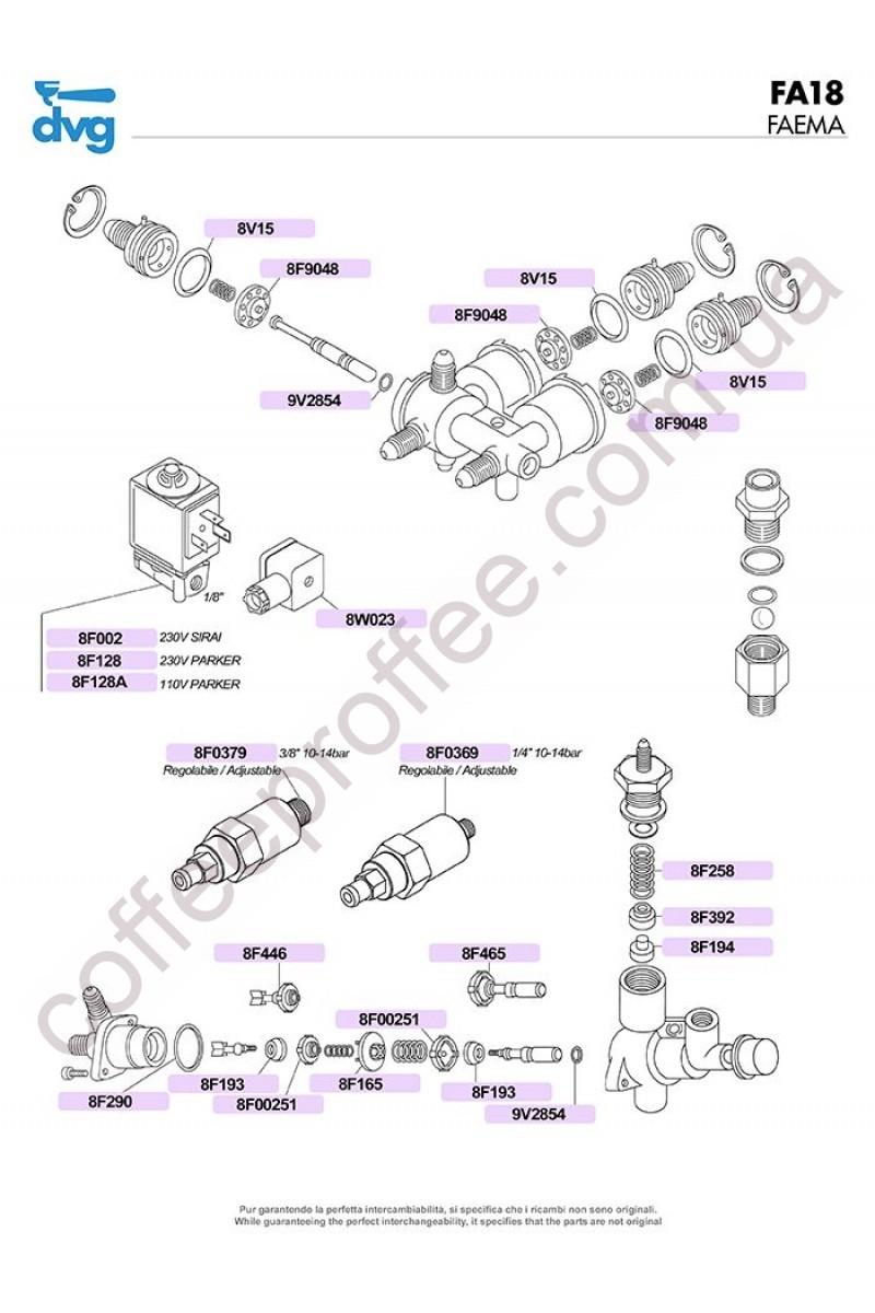 FAEMA - E91/DUE AND COMPACT VALVES UNIT
