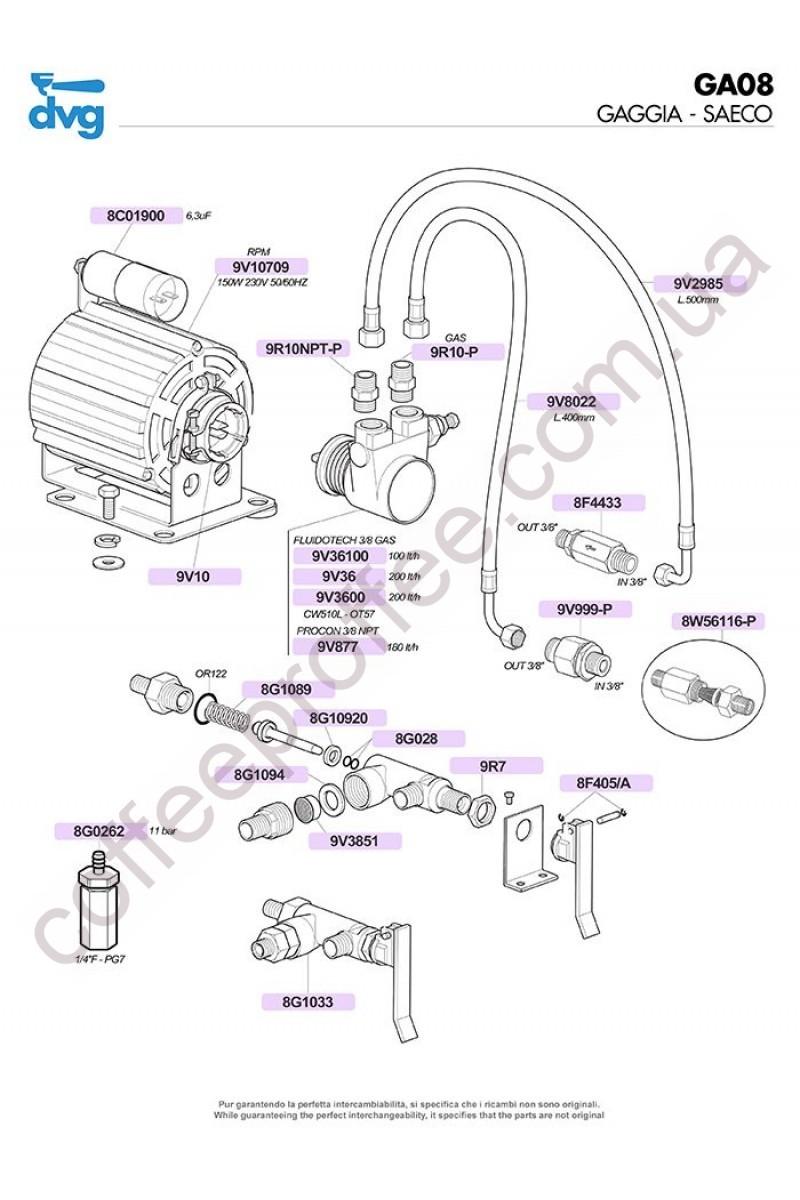 GAGGIA-SAECO - MOTORS, PUMPS AND MANUAL FILLING