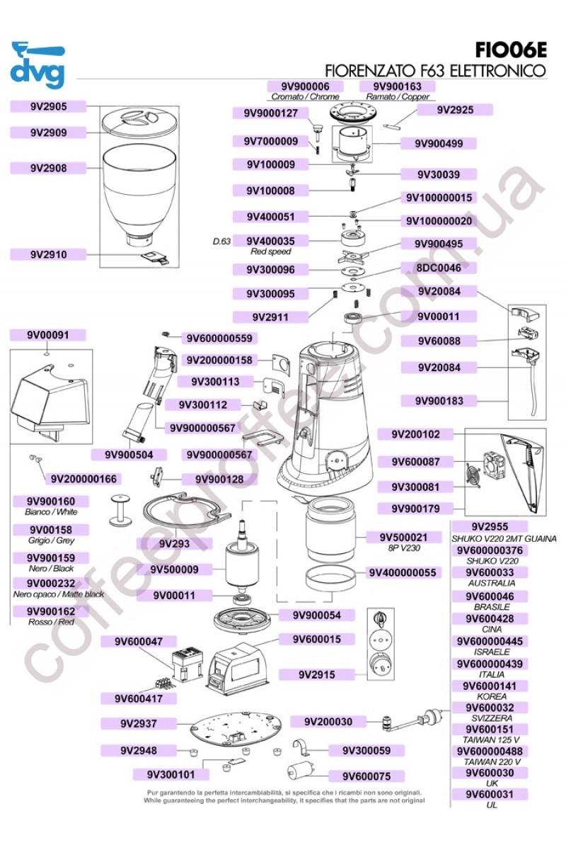 FIORENZATO - F63 ELECTRONIC COFFEE GRINDER